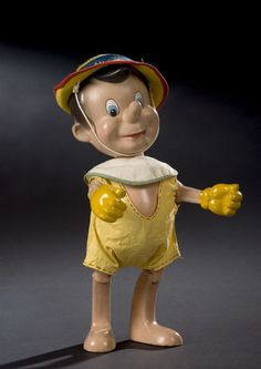 PINOCCHIO JOINTED COMPOSITION DOLL BY KNICKERBOCKER TOY CO.