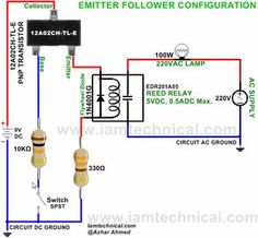 Animation showing how an electromagnetic relay works magnetism emitter follower configuration pnp transistor 12a02ch tl e switch reed relay edr201a05 iamtechnical electronic circuitcircuit diagramdscircuits computers asfbconference2016 Image collections