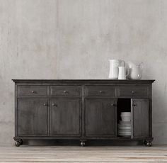 """Annecy Metal-Wrapped 78"""" Panel Large Sideboard"""