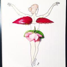 #inspiration #floral #inspirationfloral #flower #rose #pink #angle #dance #drawing #pastel #illustration #painting #imagination #art #Vancouver #dress #fashion #design #facethefoliage