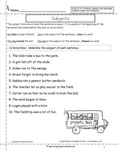Bioaccumulation Worksheet Simple Subject And Predicate Worksheet  Th Grade Practice  Learn Fractions Worksheets Pdf with Numbers In Word Form Worksheet Pdf Combining Sentences Identifying Subjects And Predicates Worksheets Number Concept Worksheets Excel