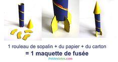 Maquette de fusée en carton