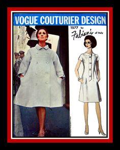 Vintage 1960s VOGUE COUTURIER DESIGN by FarfallaDesignStudio, $60.00