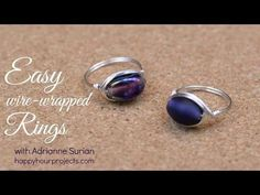 Simple leaf copper ring for beginners - Wire Wrapping Ideas 92 - YouTube