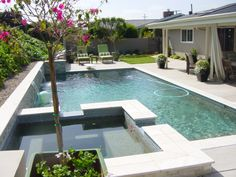 inground pool landscaping with fencing | ... landscaping company ... - Pool Patio Designs