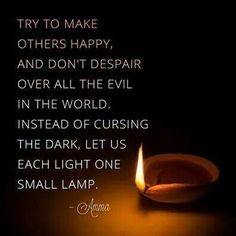Light up the dark using your own flame.
