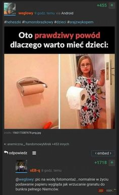 Jbzdy.co - najgorsze obrazki w internecie! Wtf Funny, Funny Memes, Jokes, Polish Memes, Best Memes, Ale, Good Things, Humor, Cool Stuff