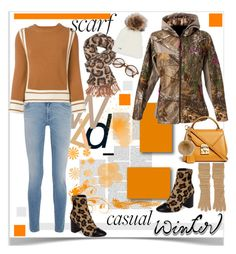 """""""Winter Scarf Casual Look"""" by ellie366 ❤ liked on Polyvore featuring Givenchy, Alexander McQueen, ScentLok, Topshop, Mark Cross, Agnona, Charlotte Russe, casual, scarf and LeopardPrint"""