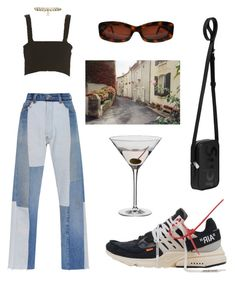 """""""day"""" by aliceyamaci ❤ liked on Polyvore featuring Chanel, Dartington Crystal, RE/DONE, Louis Vuitton, contestentry and polyPresents"""