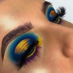 Eye Makeup Tips – How To Apply Eyeliner – Makeup Design Ideas Makeup Eye Looks, Eye Makeup Art, Blue Makeup, Eye Makeup Tips, Makeup Goals, Eyeshadow Makeup, Makeup Inspo, Mac Makeup, Makeup 2018