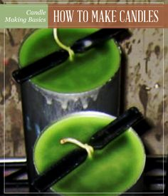 Candle Making Basics | Learn How To Make Candles in this easy to follow step-by-step tutorial - Pioneer Settler | Homesteading | Self Reliance & Recipes #pioneersettler | pioneersettler.com