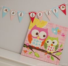 Must have baby room decor. Baby girl owls.