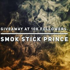 I will be giving away a #smokstickprince at 10k followers.  How to qualify  Hit that follow button  Then head over to YouTube and lookout for my giveaway video.  #giveaway  #vapegiveaway Vape, Giveaway, Button, Youtube, Instagram, Smoke, Electronic Cigarette, Vaping