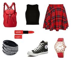 """""""School of Rockin' It"""" by daisydoodle11 on Polyvore featuring River Island, NYX, bürgi, Prada, Converse, women's clothing, women's fashion, women, female and woman"""