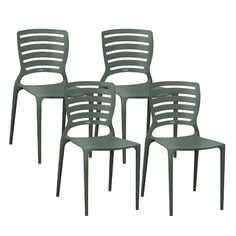 Cadeira Sofia com Encosto Vazado 4 Peças Grafite - Tramontina