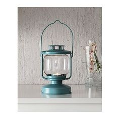 """MÖRKT Lantern for tealight - IKEA .....maybe for rehearsal tables?  They are just 6.75""""....May be too small"""