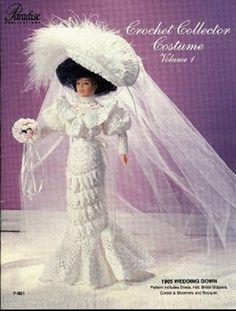 Crochet Wedding Dress For Barbie Collector Crochet 1