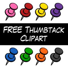 FREE Thumbtack Clipart from Wendy Candler's Digital Classroom Clipart store ... or would you call them push pins? Either way, they are cute!