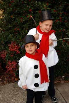 Free instructions to make snowman costume for kids yuletide snowman costume solutioingenieria Gallery