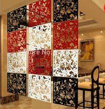 8 pcs/lote modernes oiseaux de contrats de mode suspendus cloison diviseurs stickers muraux de chambres hollowout écran décor à la maison d'accueil(China (Mainland))