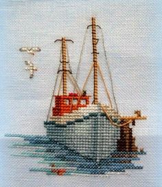 Thrilling Designing Your Own Cross Stitch Embroidery Patterns Ideas. Exhilarating Designing Your Own Cross Stitch Embroidery Patterns Ideas. Cross Stitch Sea, Cross Stitch Flowers, Cross Stitch Charts, Cross Stitch Designs, Cross Stitch Patterns, Ribbon Embroidery, Cross Stitch Embroidery, Embroidery Patterns, Boating Pictures