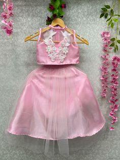 Kids Party Wear, Designer Kids, Cut Work, Cute Girl Outfits, Girl Online, Girls Wear, Lehenga Choli, Pink Dress, Laughing