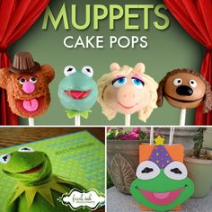 The Muppets movie hits theaters today, bringing the Muppets back to the limelight! A new generation of lil Muppets fans is ready to be born, and mama knows 1st Birthday Themes, 4th Birthday Parties, Baby Birthday, Birthday Bash, Birthday Ideas, Muppet Babies, Baby Cake Pops, Baby Party, Fun