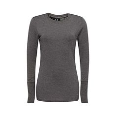 Under Armour Long sleeve Infrared tee ($45) ❤ liked on Polyvore featuring activewear, activewear tops, under armour sportswear and under armour