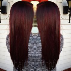 Rich red violet color melt created using redken chromatics and redken shades eq cream new RV series! Hair by Rachel fife at Sara Fraraccio salon