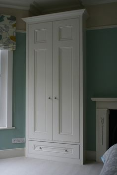 Alcove Wardrobe Doors & Shaker Style Wardrobe In Alcove Alcove Wardrobe, Wardrobe Doors, Bedroom Wardrobe, Built In Wardrobe, Home Bedroom, Double Wardrobe, Bedroom Ideas, Alcove Cupboards, Built In Cupboards