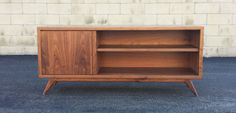 Mid century modern TV console credenza TV stand mcm by PMIstudios
