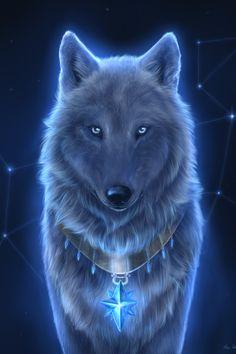 Título: Star wolf Arte digital de la artista estadounidense SnowWolfMystic, vía snowwolfmystic.deviantart.com