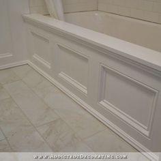 DIY Paneled Bathtub Skirt For A Standard Apron Side Soaking Tub. Floor Tile