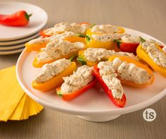 Gorgonzola & Olive Mini Peppers - Miniature peppers stuffed with a flavorful cheese filling makes quick, easy appetizers.