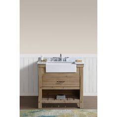 Shop for Marina Bathroom Vanity Driftwood Finish. Get free delivery at Overstock - Your Online Furniture Outlet Store! Get in rewards with Club O! Cheap Bathroom Vanities, 36 Bathroom Vanity, Cheap Bathrooms, Rustic Bathrooms, Vanity Sink, Amazing Bathrooms, Master Bathroom, Shower Storage, Shower Shelves