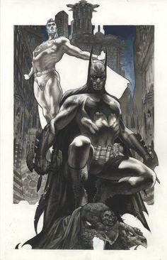 Batman and Superman by Simone Bianchi