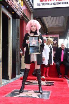 Cyndi Lauper Adam And Danielle Busby, Four Tops, Lgbt Rights, Cyndi Lauper, Billboard Hot 100, Hottest 100, Badass Women, Hollywood Walk Of Fame, Female Singers