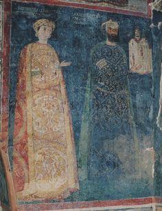 Калоян севастократор и его жена Десислава. Болгария, Боянская церковь. XIII в.