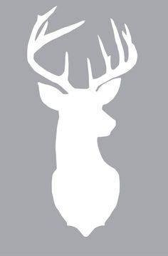 decor, idea, deer silhouett, stuff, crafti, silhouettes, free printabl, diy, christma