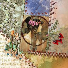 Crazy quilt block by Sally Papin | Quilted Art