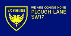 AFC Wimbledon new club crest concept, using the proposed move back to Plough Lane as an opportunity to move things forward with the club crest and identity