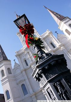 Christmas, St. Louis Cathedral & Jackson Square, New Orleans, LA