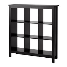 IKEA - TOMNÄS, Shelf unit, black-brown, , Keep your favorite items visible on the open shelves, and hide away everything else in boxes or baskets.