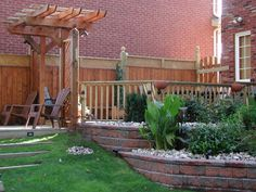 deck retaining wall - Google Search