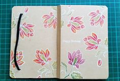 DIY Notebok Embellish Altenew Persian Motifs Floral Stamps