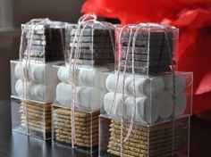 """""""S'mores"""" package. Would be great to include a non-scented candel and matches for people who don't have a fireplace but want that nice roasted taste! (No tutorial included, package together like example or create something of your own!) -Antoinette, Adapt Mag Contributing Writer"""