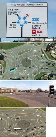 The Magic Roundabout in Swindon, England – 5 in 1 (Brains would explode if this was in Kingsport)