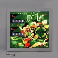 Riproduzione in plexiglass della testata flipper BEAT TIME del '67. La cornice in legno è personalizzabile; l'illuminazione interna a led è generata da batteria ricaricabile (caricatore incluso). Dimensioni: A 72,3 – L 77 – P 5,8 Il numero del totalizzatore è personalizzabile. #design #arredarecasa #colors #beattime #beatles #musica #design #music #art #artist #artigiano #artigiano #artigianale #madeinitaly #flipper #pinball #pinballart #vintagegame #retrogame Retro Game, Flipper, Pinball, The Beatles, 3, Green, Design, Musica