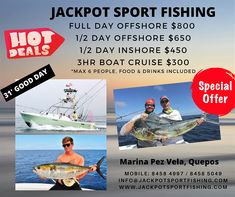 Fishing is on Fire! 🔥🔥🔥 We are offering 40% discount on our normal rates to Locals & Costa Rica residents whilst Costa Rica borders remain closed, who wants to go Fishing!? Quepos, Sport Fishing, Costa Rica, Cruise, Boat, Fire, Baseball Cards, Sports, Hs Sports