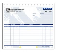 "Invoice Shipping Carbonless Job Invoices Item No6544 Size 8 12"" X 11""  Pinterest ."